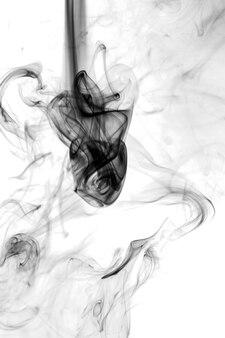 Smoke black on a white background.