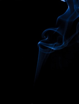 Smoke blue background black