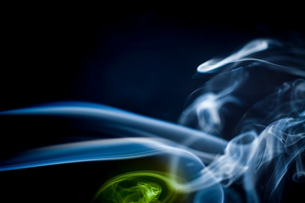 Smoke collection on black background