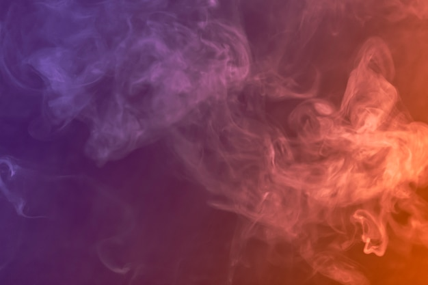 Smoke on colorful background