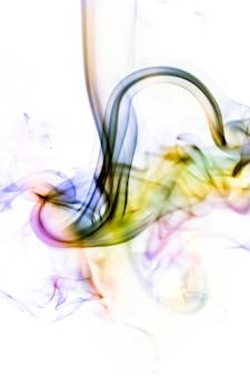 Smoke colorful on white background
