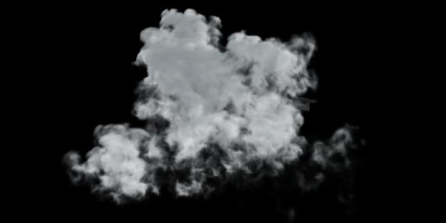Smoke design on black background