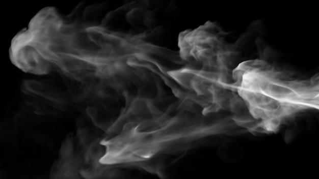 Дизайн дыма на черном фоне