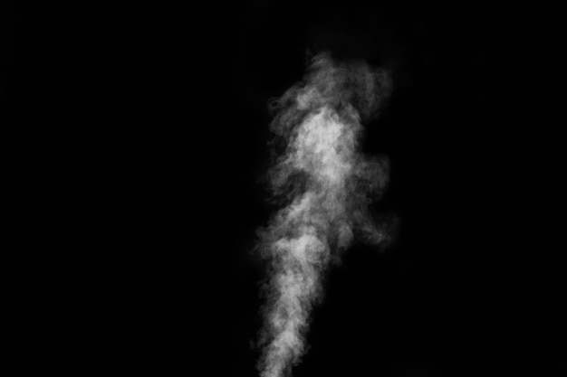 Smoke fragments on a black background. abstract background, design element, for overlay on pictures.