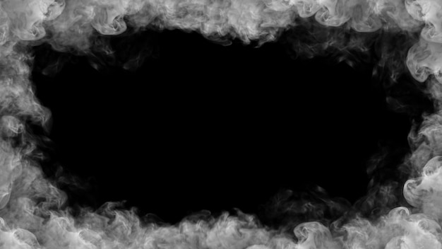 Smoke frame 3d illustration