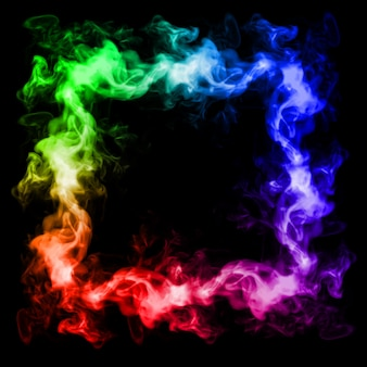 Smoke frame colorful 3d illustration