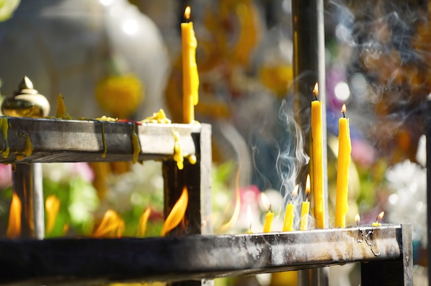 Smoke incense stick asian religious believe smell