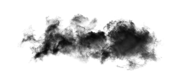 白い背景で隔離の煙