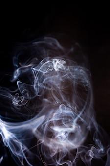 Smoke motion on black.
