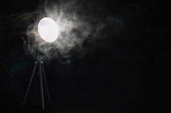 Smoke near lamp