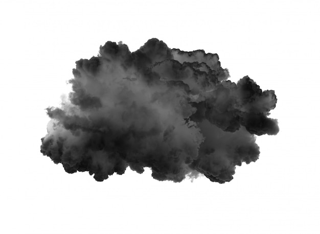 Дым на черной стене