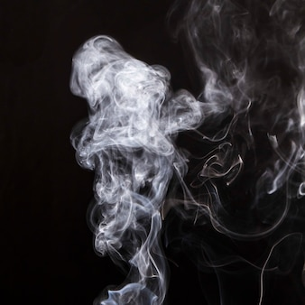 Smoke overlay movement on black background