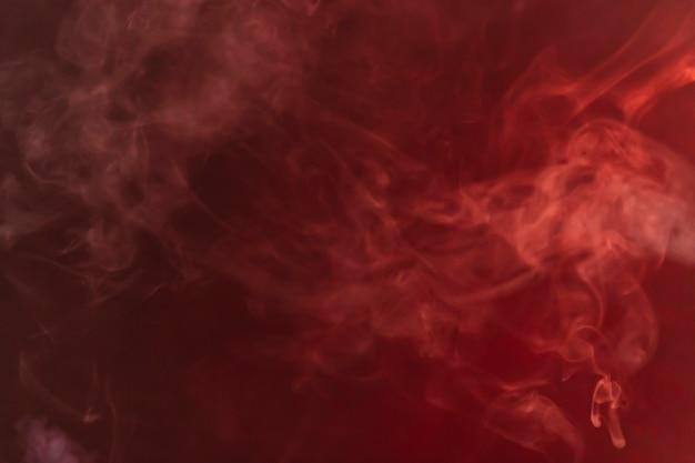 Smoke on red