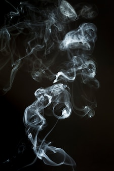Smoke silhouette with wavy shapes