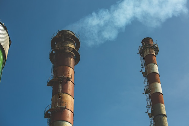 Smoke stack steel works  from industrial waste, but using new technology to clean it before dispersing
