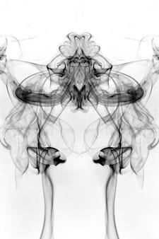 Smoke toxic movement on a white background.