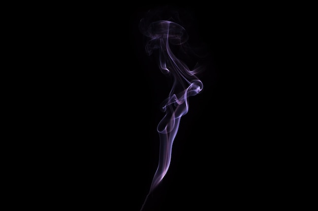 Smoke with black background