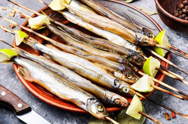食欲をそそる魚のsmoke製
