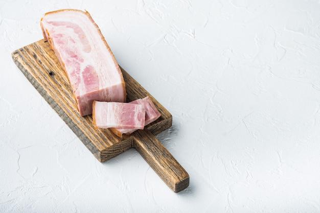 Smoked bacon, whole slab.