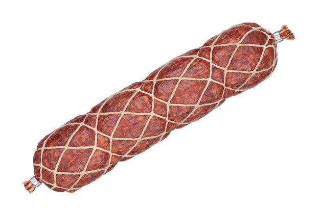 Копченая колбаса изолирована