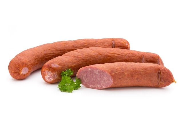 Smoked sausages and parsley