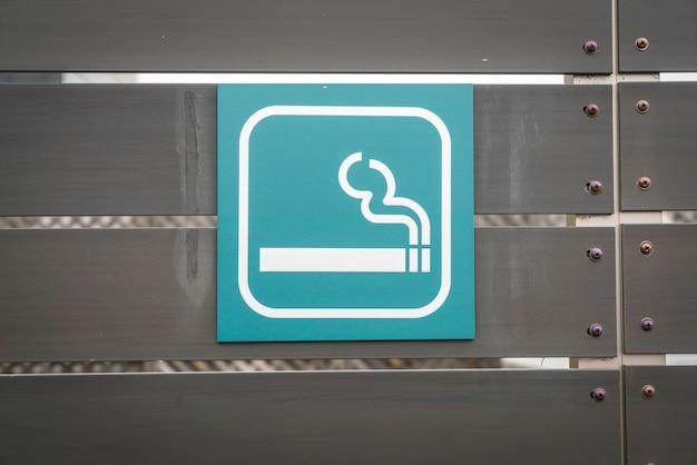 Smoking area sign .