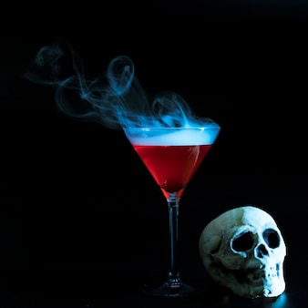 Smoky goblet and skull