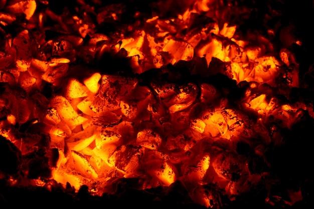Smoldering ashes macro