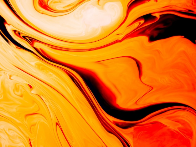 Smooth acrylic texture with orange curves and unique design