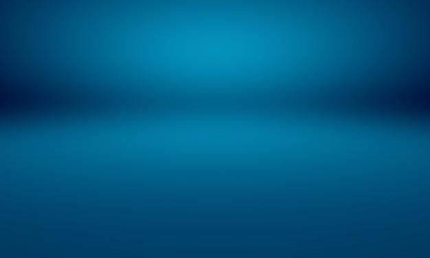 Smooth dark blue with black vignette studio