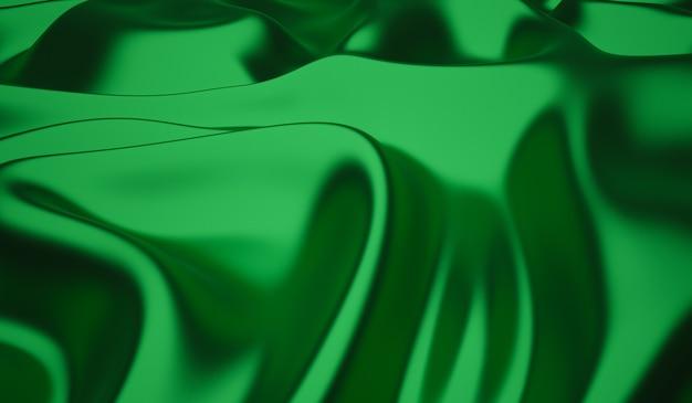 Гладкую элегантную зеленую шелковую или атласную текстуру можно использовать в качестве фона