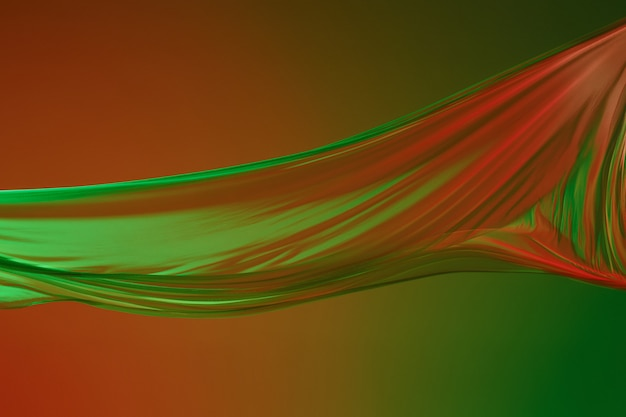 Гладкая элегантная прозрачная зеленая ткань зеленого цвета