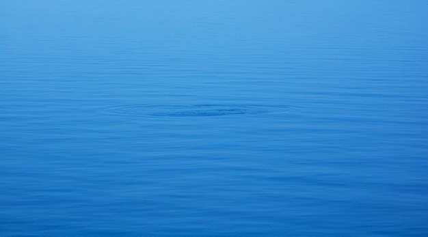 The smooth natural blue water background