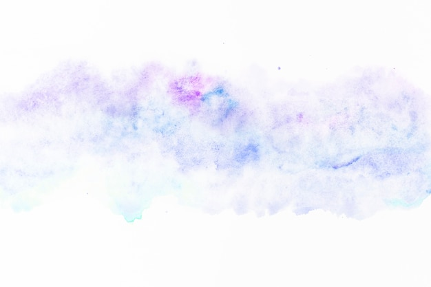 Smooth stains of blue and purple paint