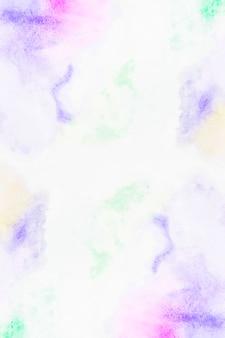 カラフルな顔料の滑らかなストローク