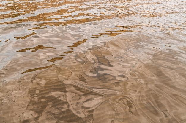 砂底の滑らかな水面