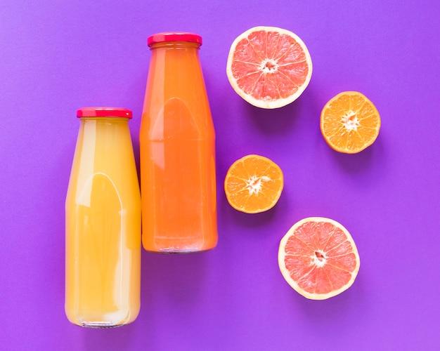 Smoothie of orange and grapefruit