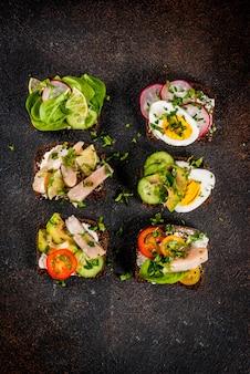 Датский открытый сэндвич smorrebrod