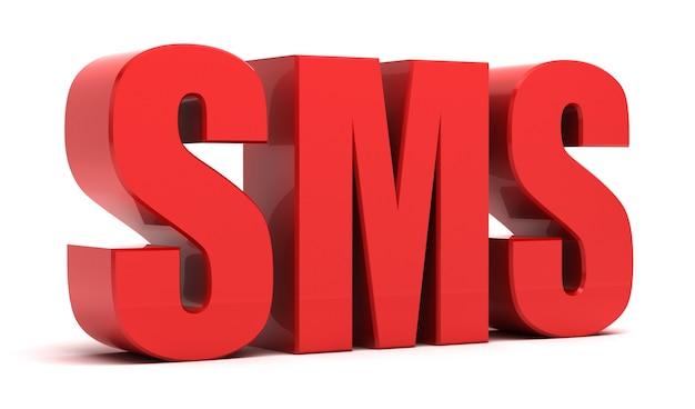 Sms 3d text - short message service