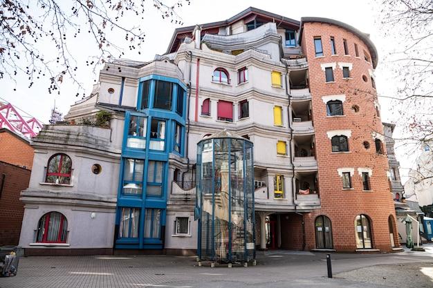 Smurfs house, geneva architecture, switzerland