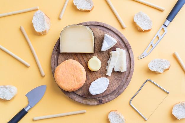 Snack of assortiment quality cheese