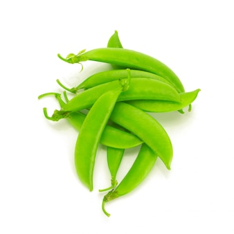 Snap peas isolated on white background