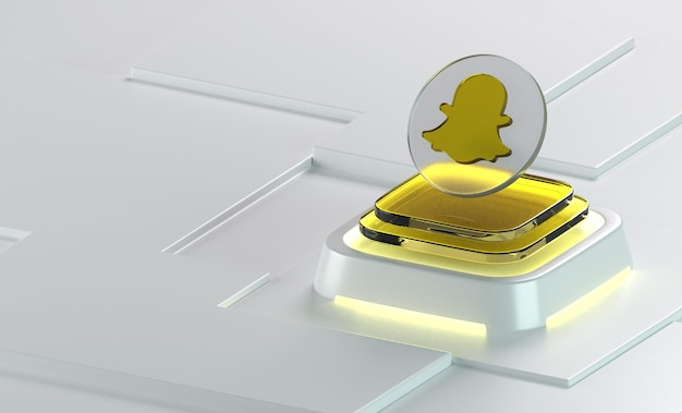 Snapchat 유리 기하학 모양 3d 아이콘 렌더링