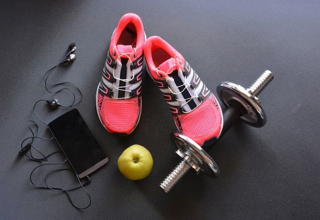 Sneakers, clothing and accessories for fitness
