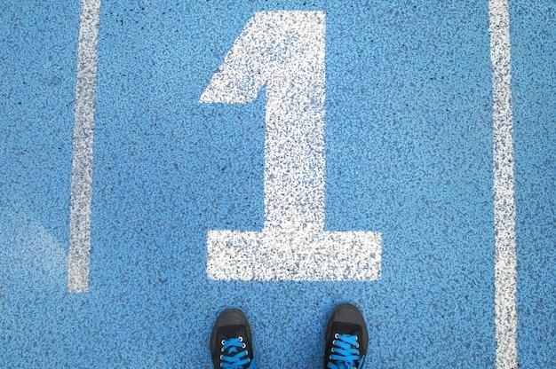 트랙 번호의 스니커즈 1. 스포츠에서 성공한다는 의미의 블루 스포츠 분야