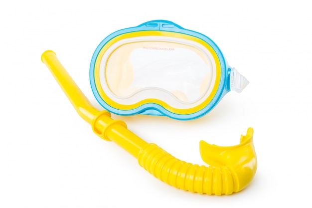 Snorkel and diving mask