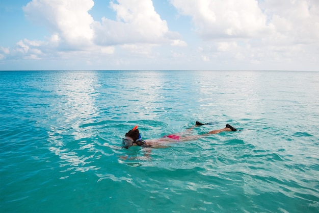 Snorkeling in the indian ocean maldives