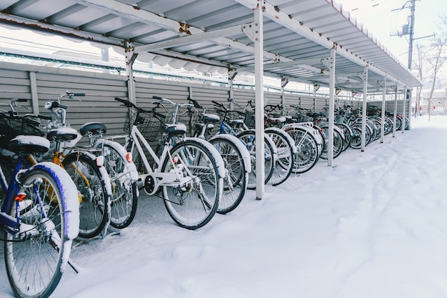 Snow on bicycle