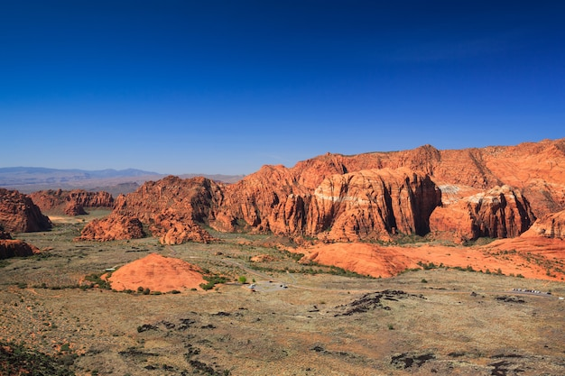 Snow canyon overlook landscape in utah