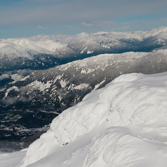 Snow covered mountains, whistler, british columbia, canada